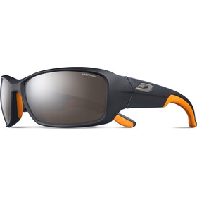 Julbo Run Spectron 4 Lunettes de soleil Homme, matt black/orange/brown flash silver